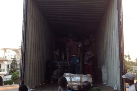Gambia - off-loading 2